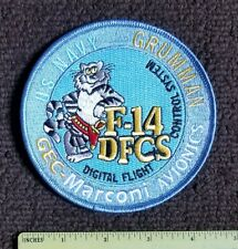 Tomcat F-14 JET GRUMMAN DIGITAL FLIGHT MILITARY NAVY Patch