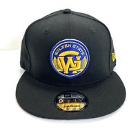 Golden State Warriors Black New Era 9 Fifty Snap back Hat Cap