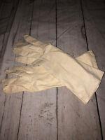 Long Forearm Gloves White Kid Leather Goat Super Soft!