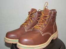 1990's Brown leather Low/Mid Safety Boots Men's Size 12 Used and in Great Cond!