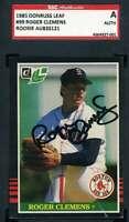 Roger Clemens 1985 Donruss Leaf Rookie SGC Coa Autograph Authentic Hand Signed