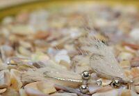 2ct - White Crazy Charlie Bonefish Flies - Mustad Signature Duratin Hooks