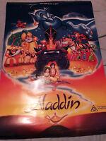 DISNEY ALADDIN ORIGINAL 1992 AUSTRALIAN CINEMA POSTER ROBIN WILLIAMS