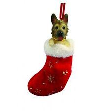GERMAN SHEPHERD DOG STOCKING CHRISTMAS SANTA'S LITTLE PALS ORNAMENT HOLIDAY
