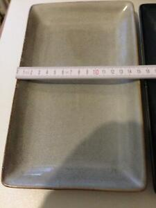 4 Porzellan Platten, Teller, Stone Optik, bunt 38 x 15 cm, NEU !