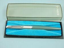 """Vintage Parker 45 Navy Grey/Steel Fountain Pen, CT, X Steel Nib,1970's """"Nr MINT"""""""