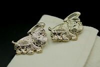 Custom Made  Cufflinks Handmade Bulldog French Marine Corps USMC Dog Gold Groom