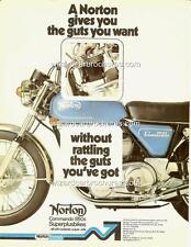 1975 NORTON 850 COMMANDO A3 POSTER AD ADVERT ADVERTISEMENT SALES BROCHURE