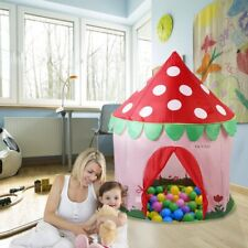 OUTAD Portable Pop Up Play Tent Kids Girl Princess Castle Outdoor Play House DD