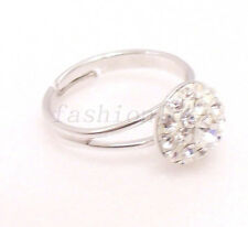 fashion1uk Solitaire Ring White Gold Plated Simulated Diamond Free Sz L M N O P
