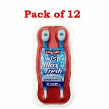Colgate Wisp Max Fresh Mini-Brush With Peppermint Beads, 4 count (Pack of 12)