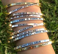 The Journeys Reminder Mantra Positive Inspirational Bracelet Valentine's Gift