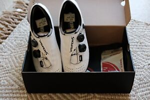 Bont Vaypor S Cycling Road Shoe Size 45. White. Worn Twice!