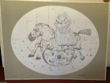 """Lithography lithographie Litografia POSSENTI Antonio """"Bambina su Cavallo"""" P.d.A."""
