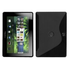 Black S-Shape Candy Skin Protector Cover Case for BlackBerry Playbook