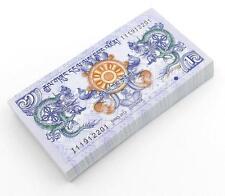 100 Pcs Bhutan 1 Ngultrum Paper Money Banknotes Uncirculated Asia World 2013