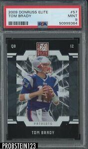 2009 Donruss Elite #57 Tom Brady New England Patriots PSA 9 MINT