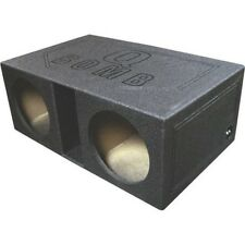QPower QBOMB12VL Empty Subwoofer Box 2 12 inch Slot Ported