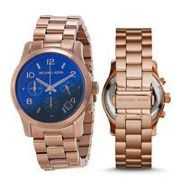New Michael Kors MK5940 Women's Runway Rose-Gold Stainless-Steel Fashion Watch
