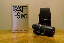 Nikon NIKKOR AF-S 300mm f/4 SWM D IF ED Lens, used, excellent