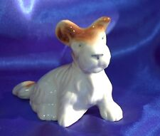 Vintage porcelain Wire Fox Terrier norwich terrier Cairn Scotty dog named TAFFY