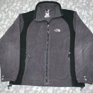 Men's The North Face Logo Full Zip Interchange Jacket Black Gray Size Medium