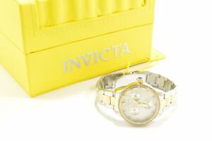 Invicta 29099 Angel White Dial Two Tone Stainless Steel Chronograph Ladies Watch