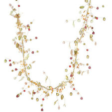 """Valerie Parr Hill Collection 46"""" Battery Operated Prelit Autumn Bead Garland"""
