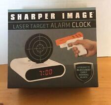 NEW Sharper Image Laser Target Alarm Clock Laser Gun Tag Target