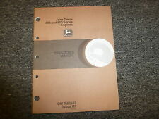 John Deere 400 & 500 Series Engines Owner Operator Maintenance Manual Omr65846