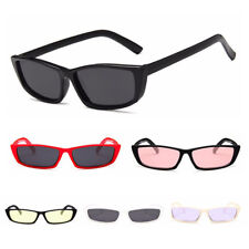 UK Retro Sunglasses for Women Men Fashion Rectangle Frame Glasses UV400 Goggles