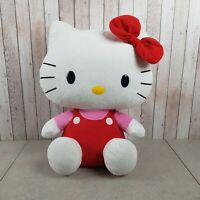 "Large TY Hello Kitty Soft Plush Toy 15"" Tall Great Condition"