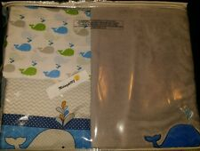 "NEW TREND LAB NAUTICA ""WHALE TIME"" 4 PIECE CRIB BEDDING SET."