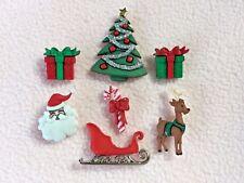 Vestirla Botones ~ Nochebuena ~ Trineo ~ Reno ~ árbol ~ Santa ~ presenta