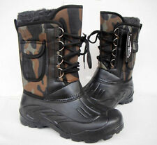 Mens Fur Lined High Top Winter Snow Boots Waterproof Camo Mid Calf Boots Shoes 4