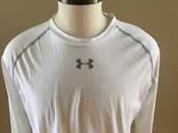 NEW Under Armour Shirt Mens 3XL White Compression Heatgear Army Of 11 Football