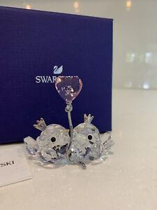 Swarovski Crystal Love Birds With Pink Heart 5492226 NIB