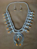 Navajo Indian Jewelry Spiny Oyster Squash Blossom Necklace Set Louise Yazzie!