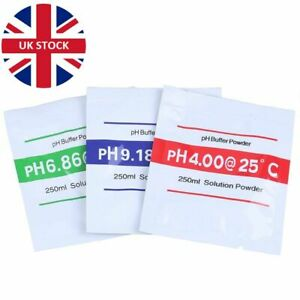 PH BUFFER SOLUTION POWDER - pH 4.00 / 6.86 / 9.18 Multiple Quantities