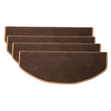 15pcs Stair Tread Carpet Mats Step Staircase Non Slip Mat Protection Cover Pads Coffee