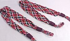 "Pair CURTAIN Tie Backs 32"" Multi Color BRAIDED 2 Satin Pink Aqua Orange Magenta"