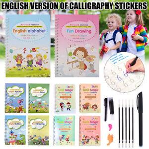 Magic Handwriting Copybook Set Reused Groove Practice Calligraphy Book Kids Gift