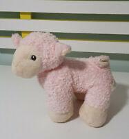 PINK SHEEP PLUSH TOY KORIMCO PINK LAMB STUFFED ANIMAL 20CM LONG 20CM TALL