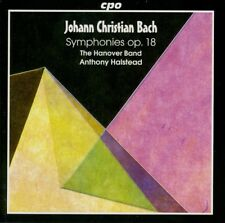 J-C. BACH symphonies op.18  THE HANOVER BAND , A. HALSTEAD