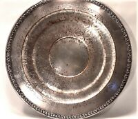 FB Rogers Silver Co Silver Platter #1615 Tiered Plate Tray w/ Etched Design