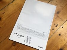 Roland Digital Piano RD-64 Owner's Manual Instructions