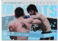 Sam Stout Matt Wiman 2010 Topps UFC Main Event Top 10 Fights Of 2009 Card # 19