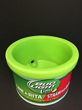 Bud Light Lime Ice Cube Cooler Bucket Heavy Plastic Great Color USA ~ NEW & F/S