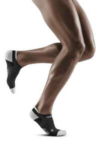 CEP Ultralight Men's No Show Socks, Black/Light Grey - Size IV