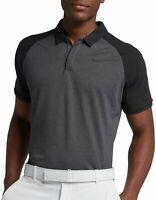 Nike Golf Dri Fit Gray Black Polo Shirt 891190-036 Men's Sz M MSRP $65